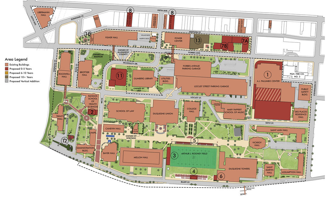 Duquesne University Map Renderings | Duquesne University
