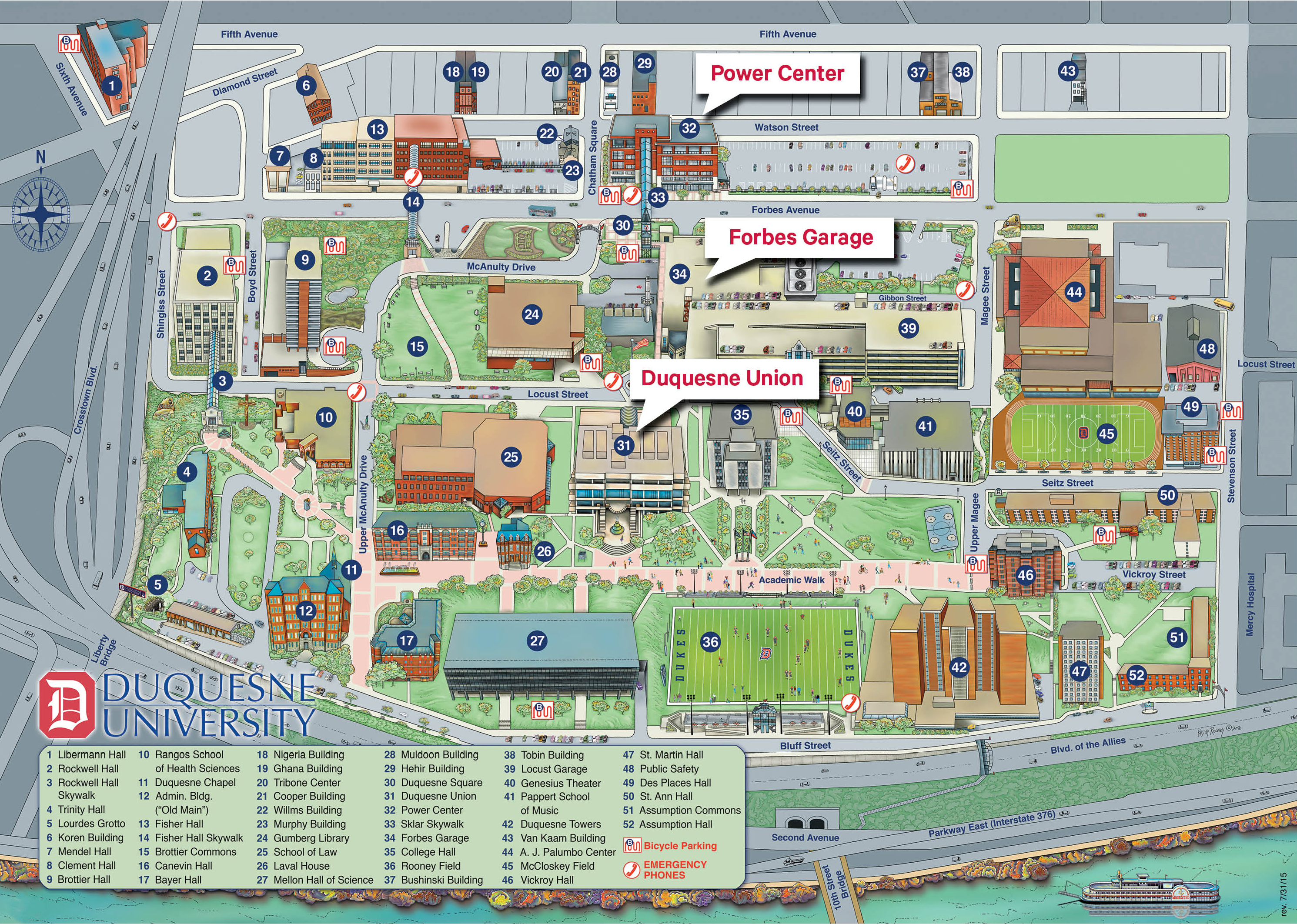 Duquesne University Map Duquesne Campus Map | fysiotherapieamstelstreek