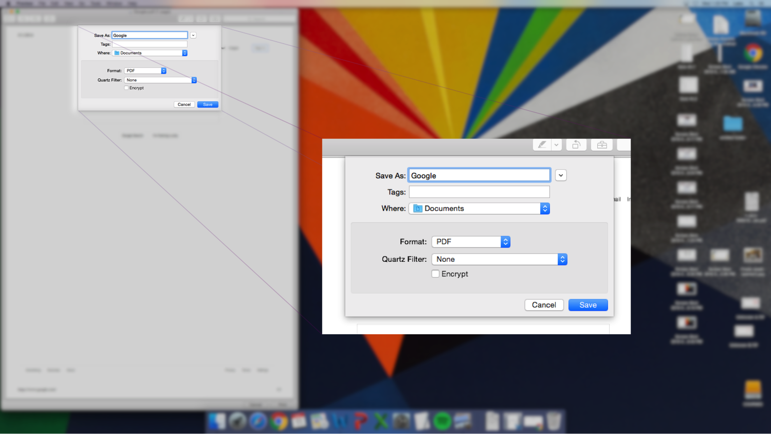 Printing a web page in OSX   Duquesne University