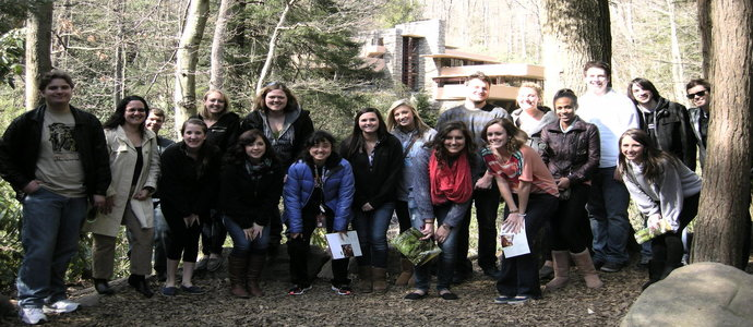 Students at Fallingwater