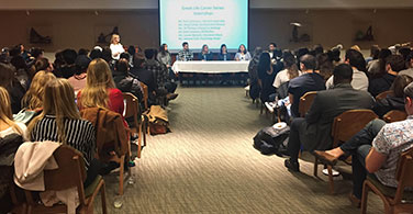 Photo of the internships panel event