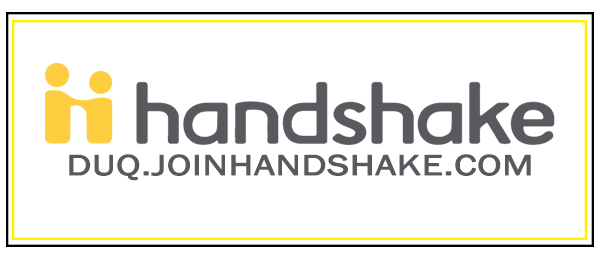 Visit us on Handshake, duq.joinhandshake.com