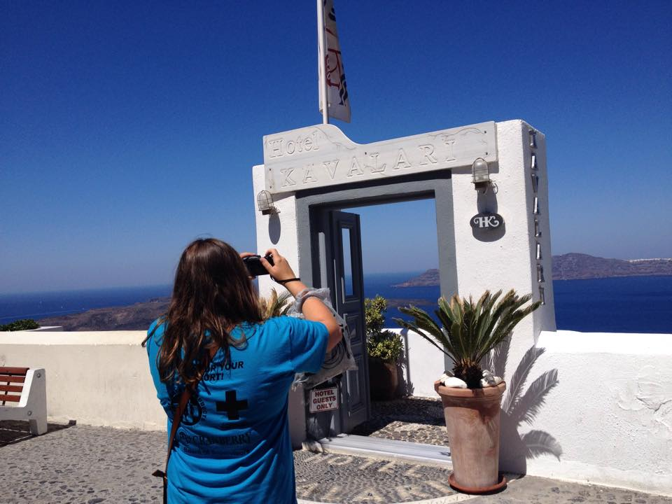 Jessica Marinaro capturing the beauty of Santorini, Greece.
