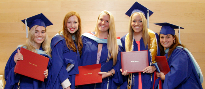 school of education graduates at commencement ceremony