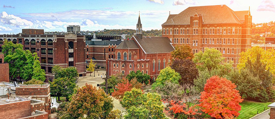 Photo of Duquesne's campus