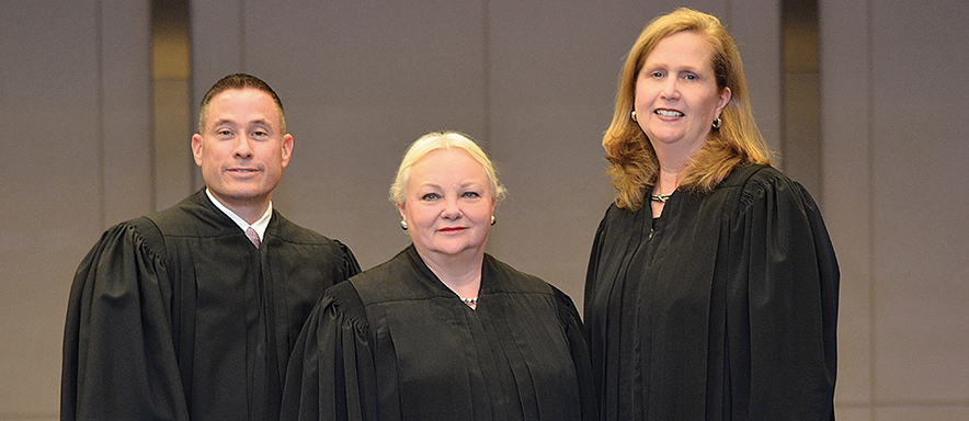 Judge Deller, Judge Conti and Judge MGinley