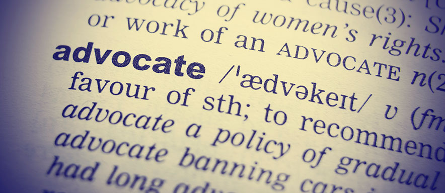 The word advocate in the dictionary