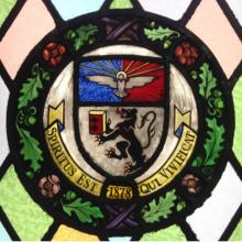 School of Law Stained Glass Window