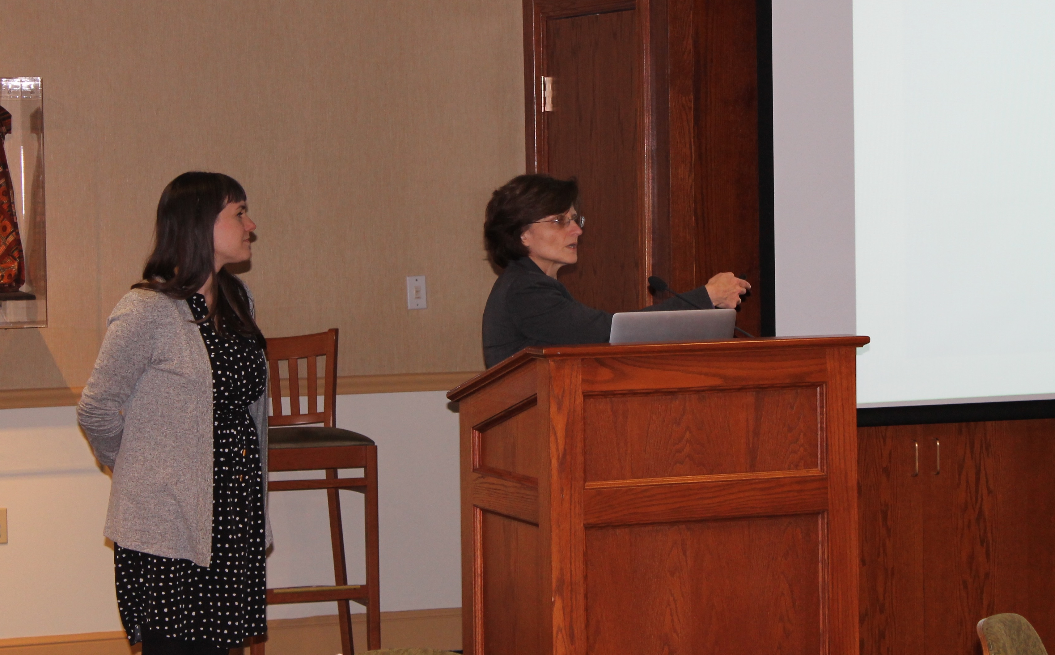Drs. Lori Koelsch and Jana Patton-Vogt presented a summary of their NSF Advance Directive IDEAL-N grant related to Gender and Minority Equity. (February 2017)