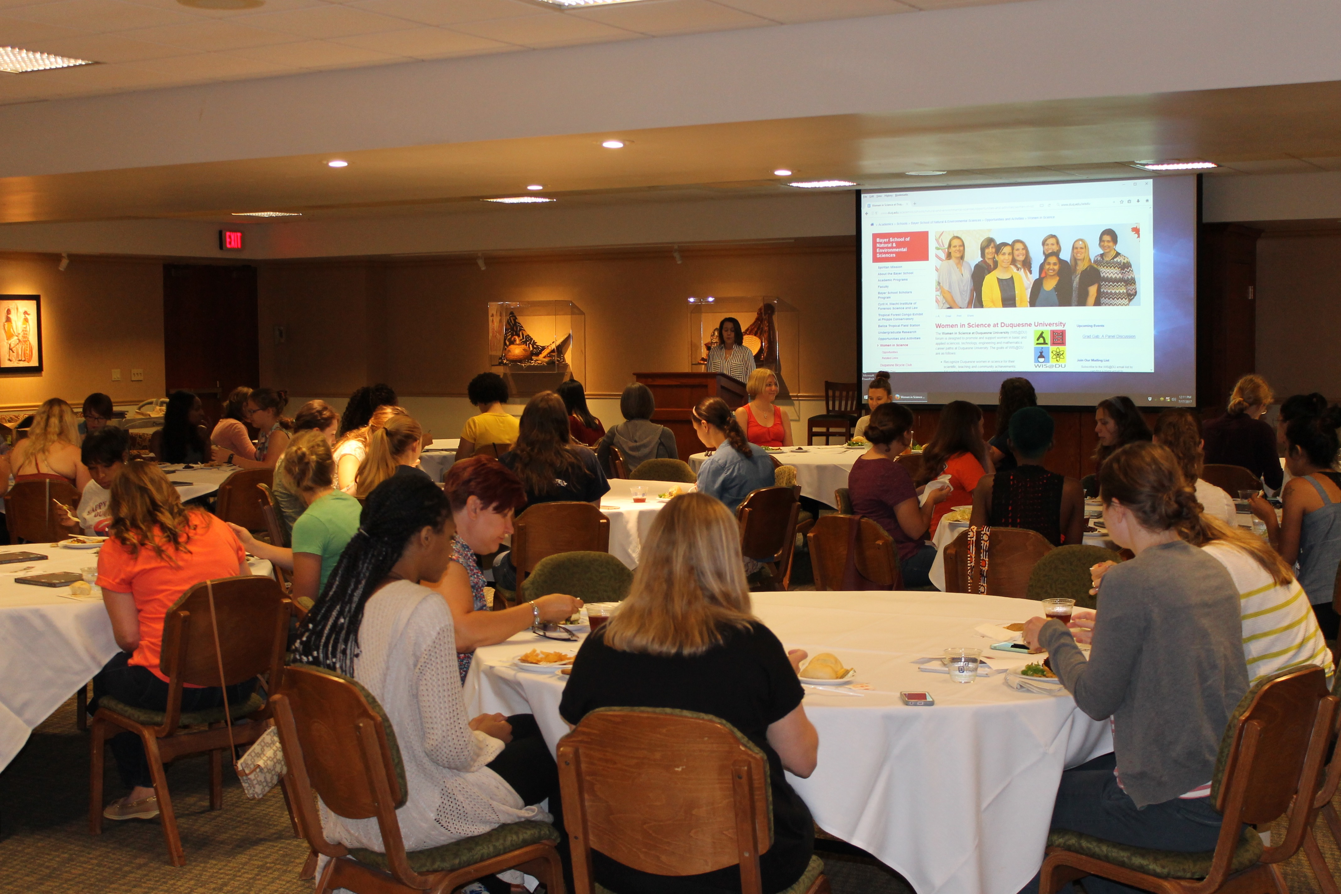 Attendees of the 'Grad Gab' luncheon and panel session on July 17th.