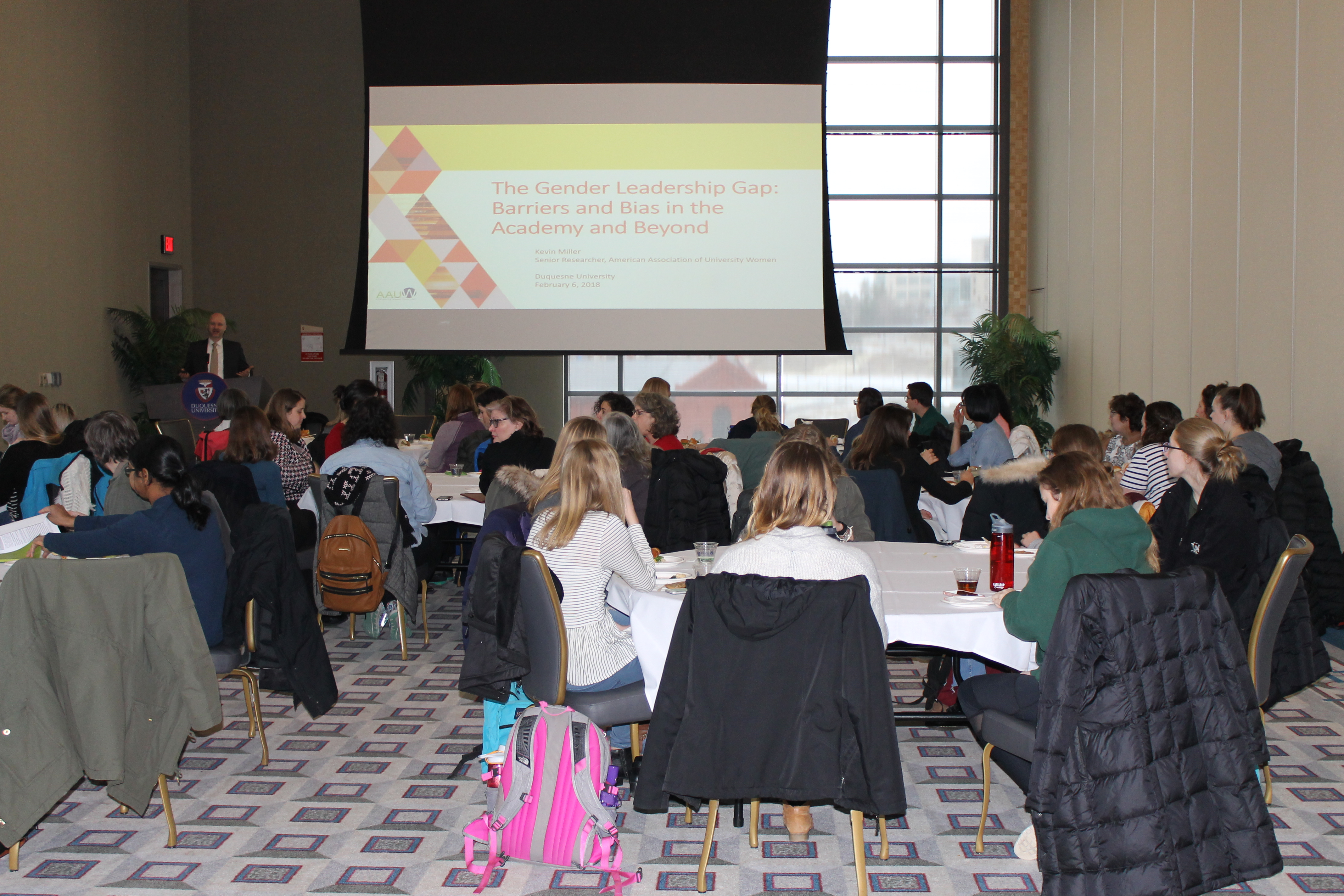 Faculty, administration, and students from across campus join WIS@DU for seminar on implicit bias by Dr. Kevin Miller.
