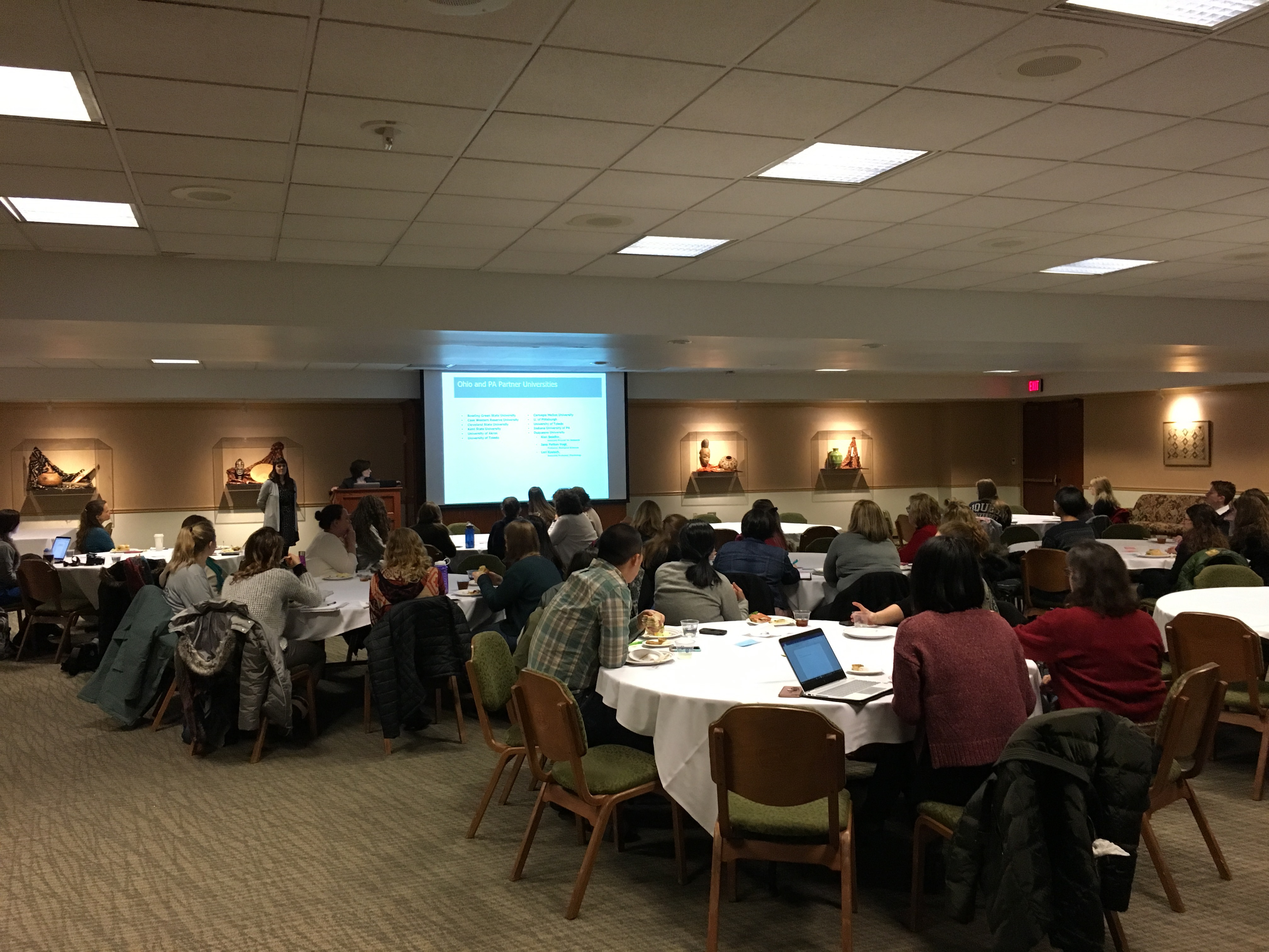 Attendees of the mentorship event included faculty and students from STEM and health-related disciplines.