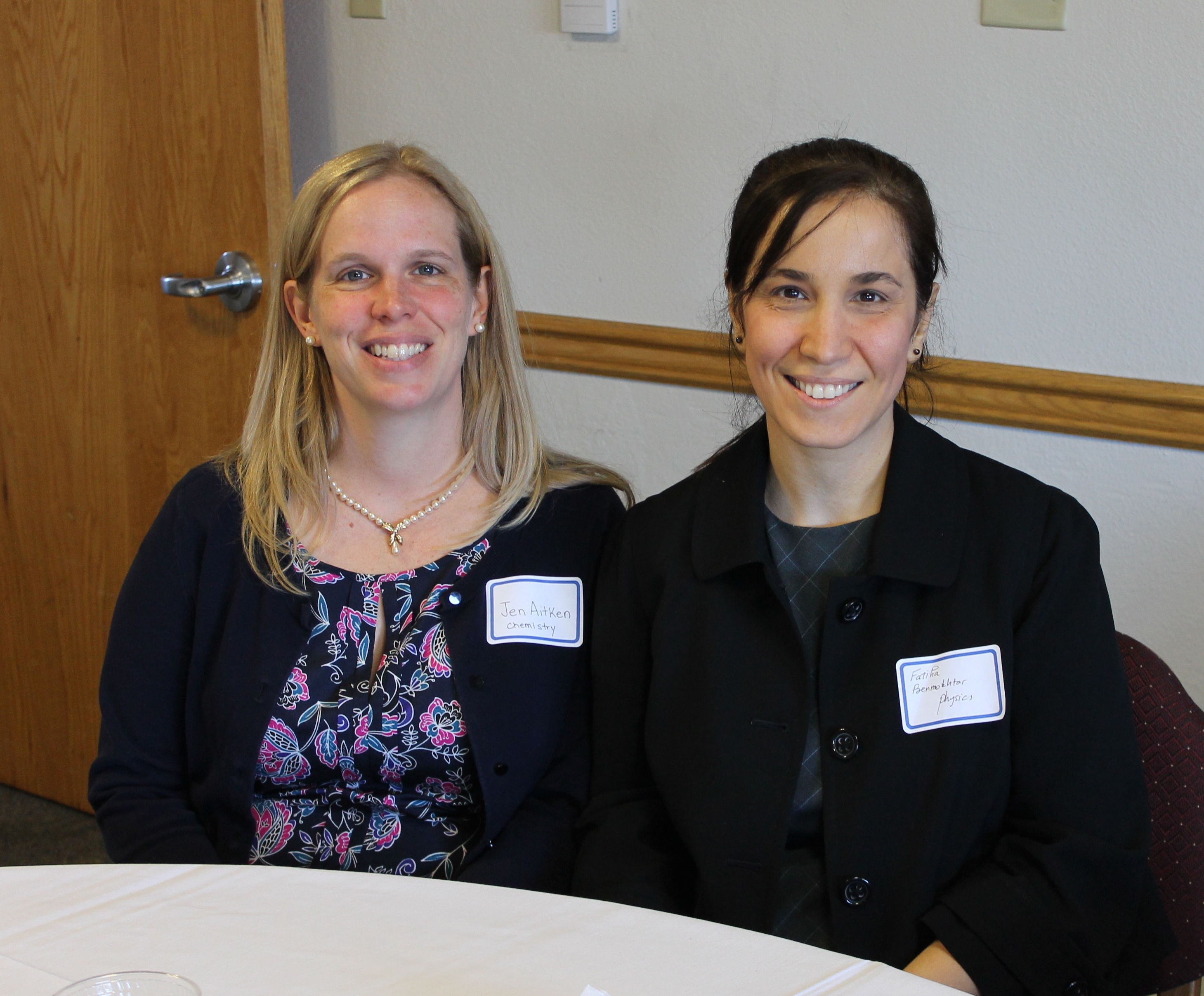 Drs. Aitken and Benmokhtar (members of the WIS@DU leadership committee)