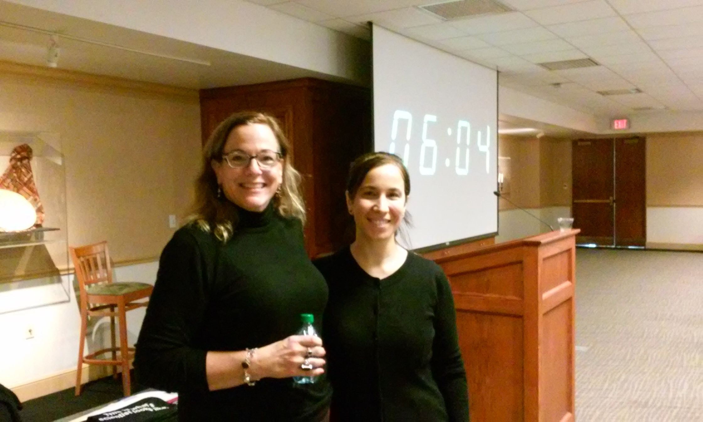 Dr. Cynthia Keppel (keynote speaker) and Dr. Fatiha Benmokhtar (DU Physics) at the Undergraduate Career Worskshop.