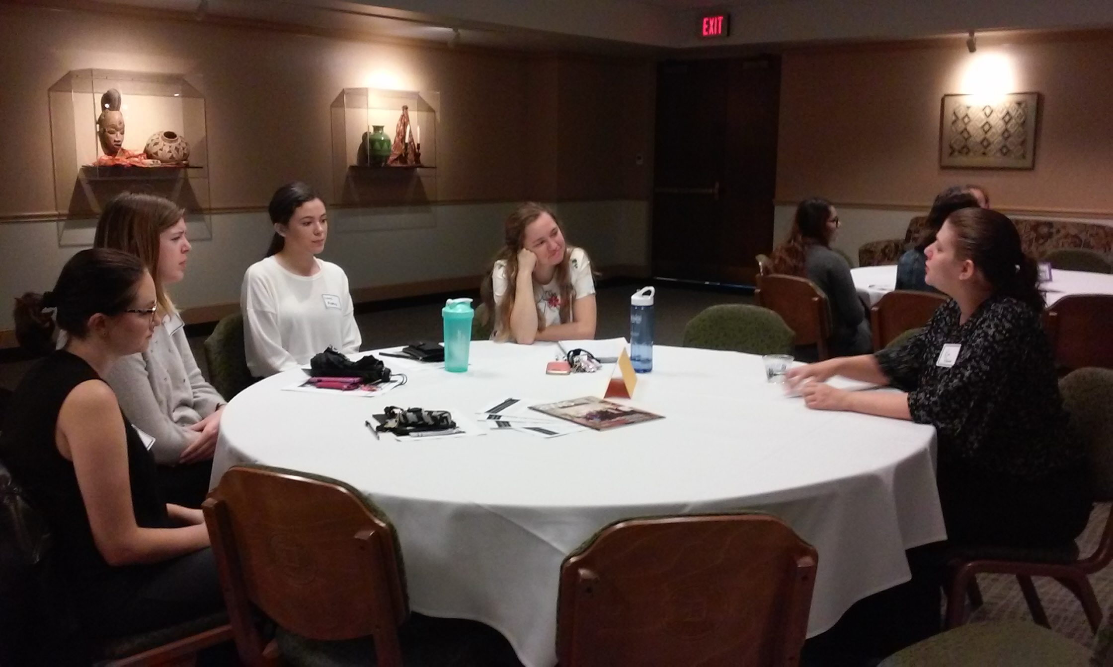 Undergraduate participants at the Career Worskhop participated in roundtable discussions with STEM professionals.