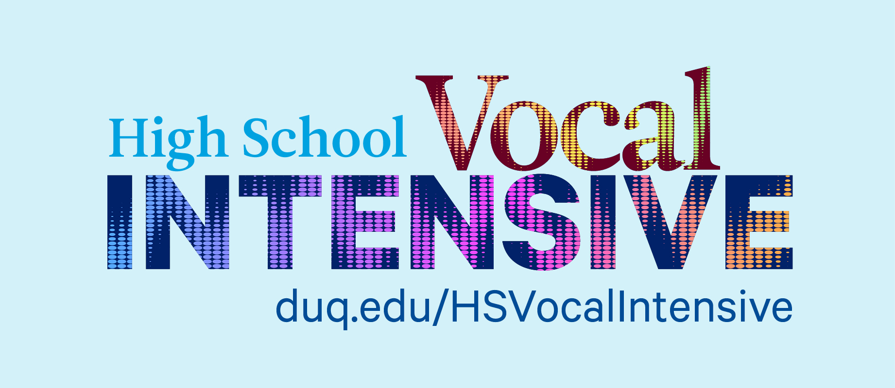 High School Vocal Intensive text logo