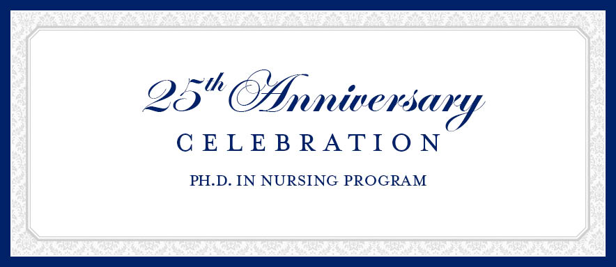 25th Anniversary of PhD Program Save the Date Graphic