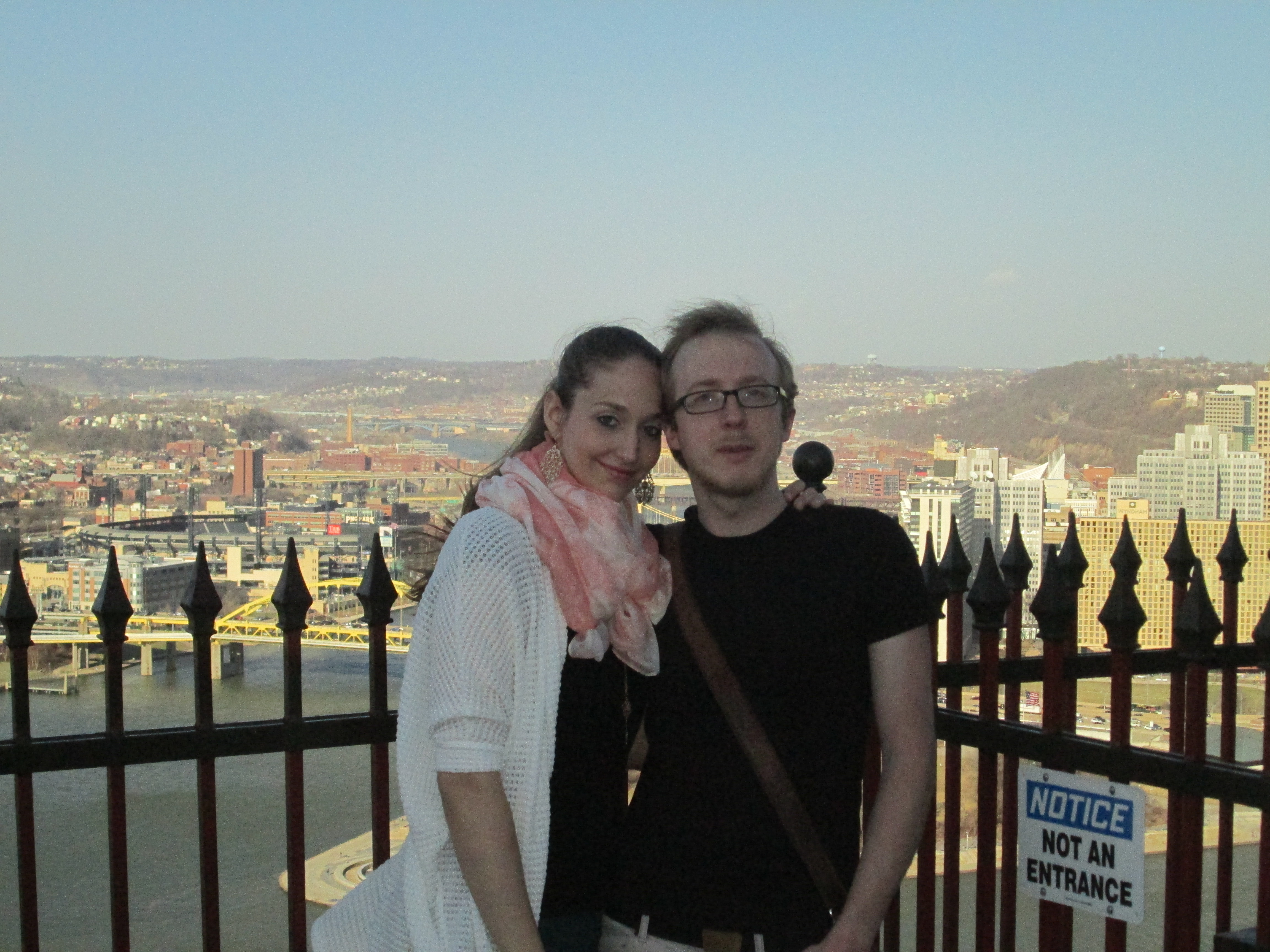 Ines Woide and her boyfriend Johannes in April 2014 at Mount Washington