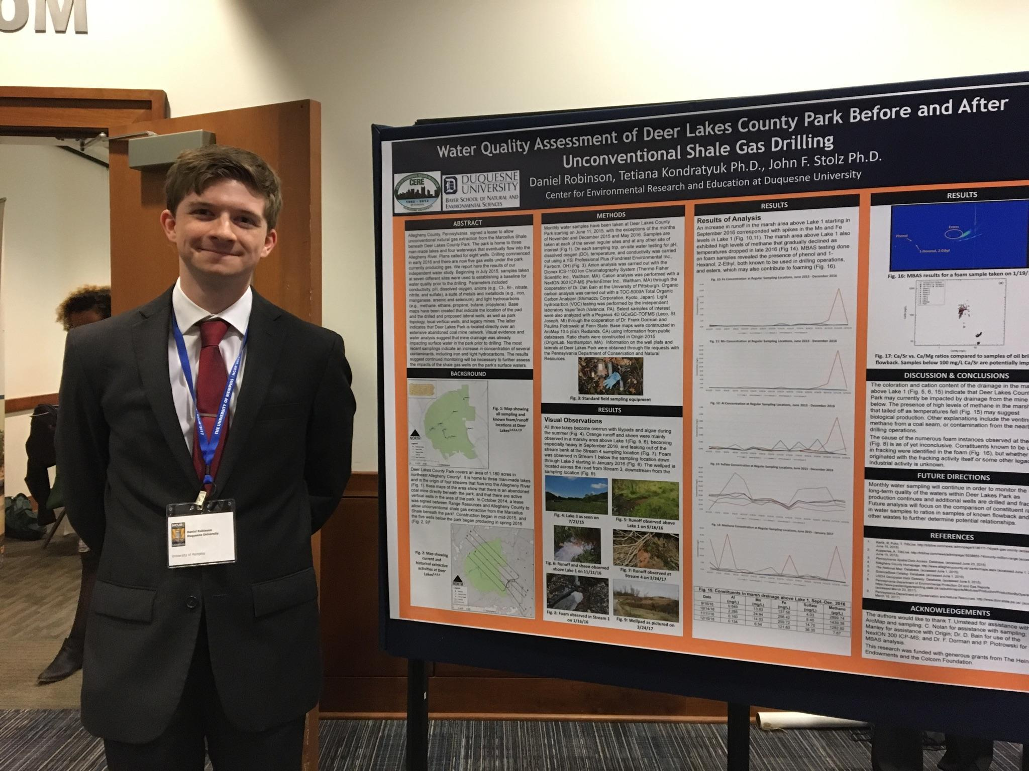 Daniel Robinson - Geography and Earth Sciences - Faculty Advisor: Dr. John Stolz