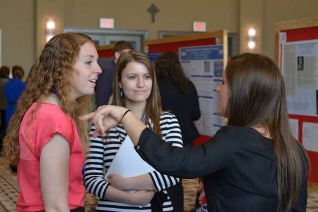 Duquesne undergraduate gather to discuss research and scholarship.