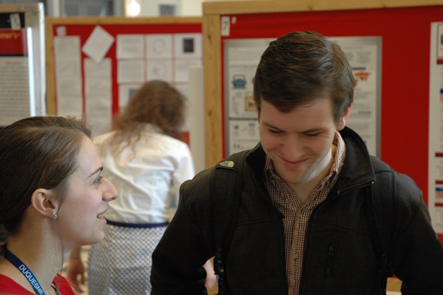 Students enjoy interacting at the URSS with other students from varying disciplines.