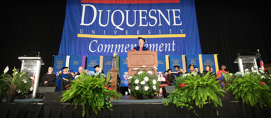 Photo of past commencement ceremony
