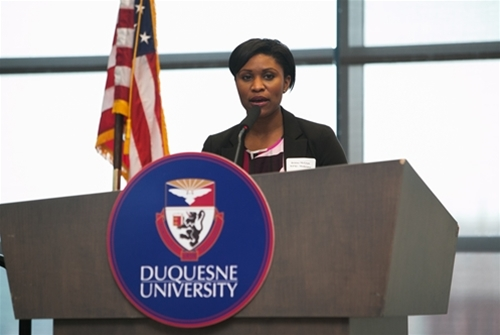 WPXI Reporter, Ms. Brittny McGraw moderated the conference.