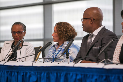 Dr. Linda Lane and other panel members discuss equity.