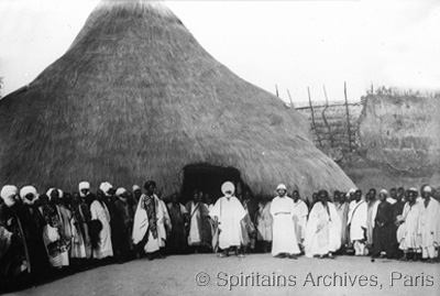 Northern Cameroon, early 1900s. Fr. Pédron meets the Sultan of Ngaondéré.
