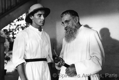 Still from the movie The Missionary, filmed in 1955. Fr. Le Roy, Superior General, advises a young missionary.