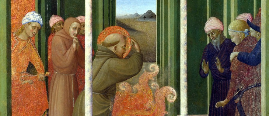 Sassetta's painting of St. Francis meeting the Sultan of Egypt