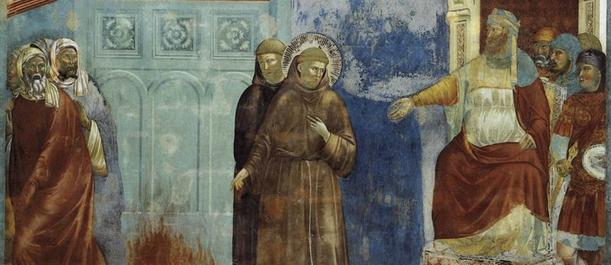 Giotto's painting of St Francis meeting the sultan