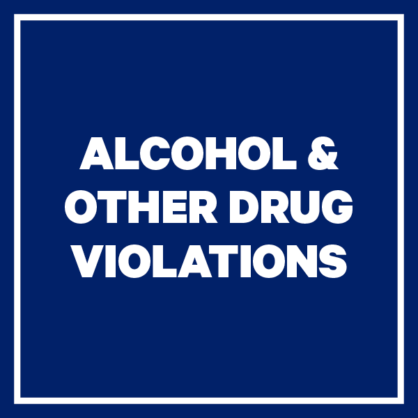 Alcohol and Other Drug Violations