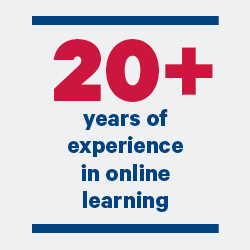 20 plus years of experience in online learning