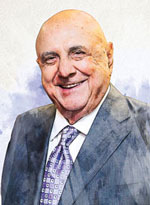 watercolor portrait of John G. Rangos Sr.