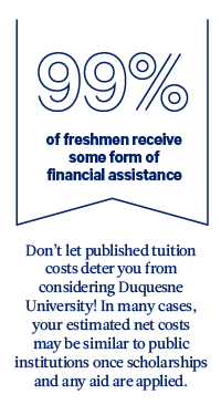 graphic: 99% of freshman recieve some form of financial assistance