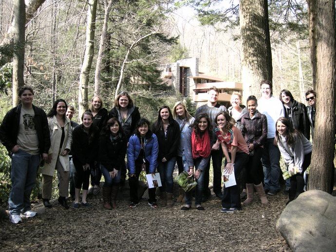 group photo at fallingwater
