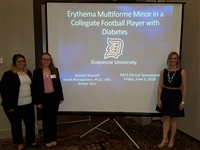 Athletic Training Students presenting case study at 2016 PATS Meeting