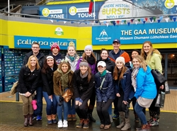 Duquesne AT students at Croke Park, Dublin