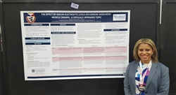 Athletic Training Student standing with poster at NATA Meeting