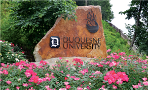 Duquesne University Logo on Rock
