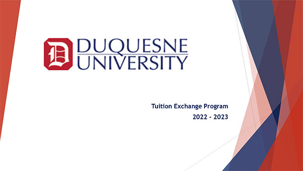 Tuition Exchange powerpoint slides