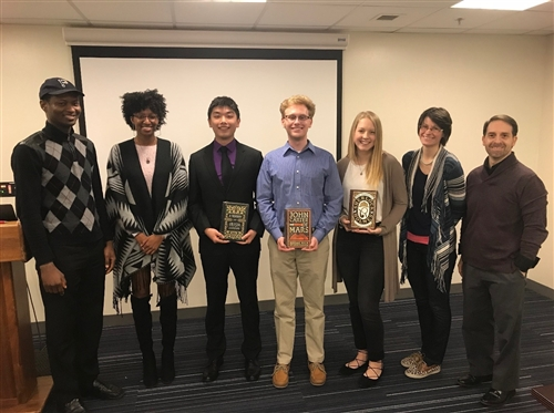 Four Undergraduate Students Honored in Public Speaking Contest Finals