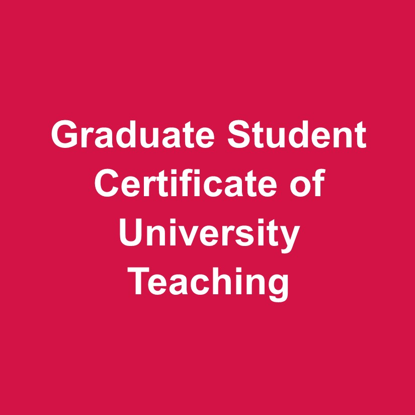 Graduate Student Certificate of University Teaching