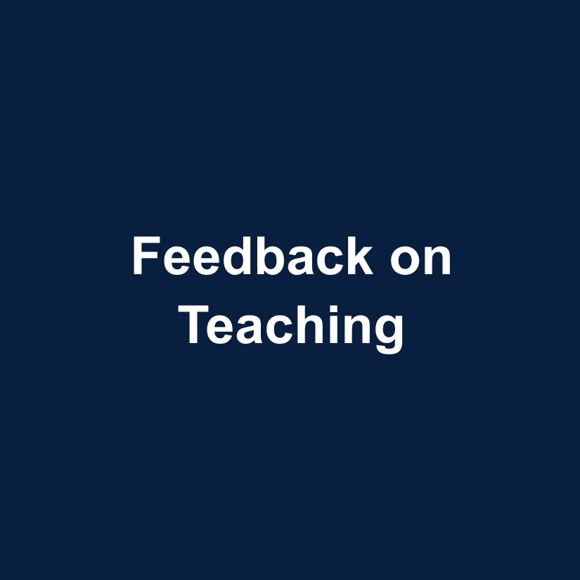 Feedback on Teaching