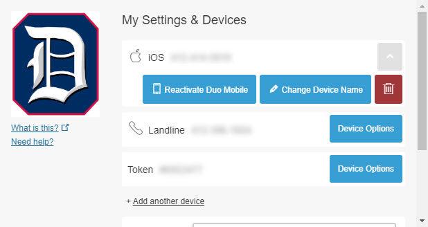 Screenshot: Follow the onscreen steps to make changes to the selected device