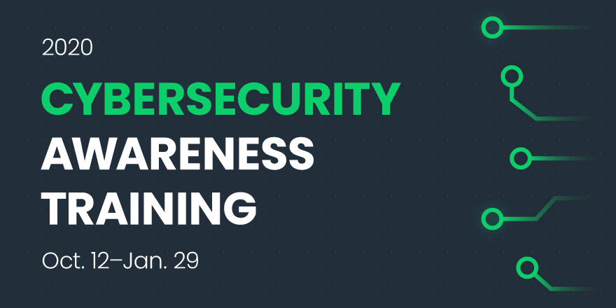Graphic: Cybersecurity Awareness Training 2020