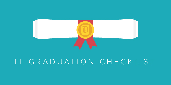 Graphic: Information Technology Graduation Checklist