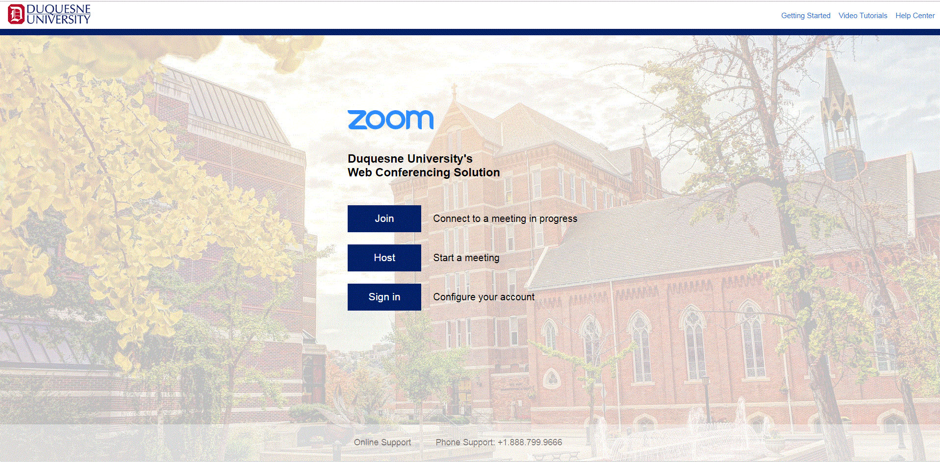 Duquesne University Zoom Login Page