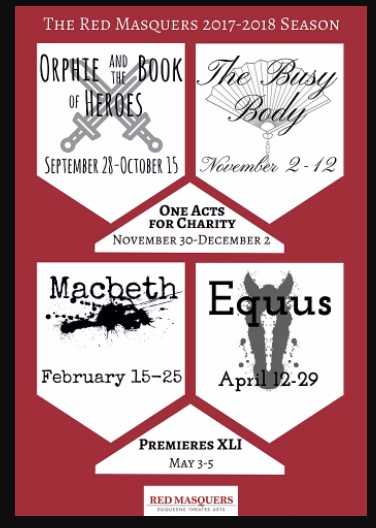 Fall and Spring Theater Schedule